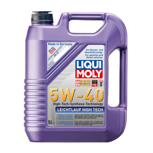 น้ำมันเครื่อง Liqui Moly LEICHTLAUF HIGH TECH 5W-40