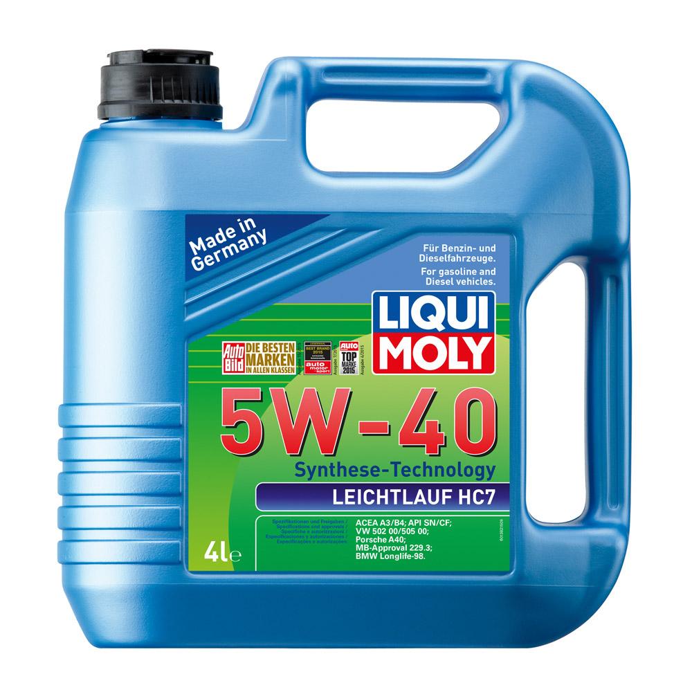 น้ำมันเครื่อง Liqui Moly 5W-40 LEICHTLAUF HC7